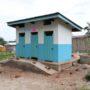 11 blocs de latrines VIP construits par AFPDE dans le camp des réfugiés de Lusenda.