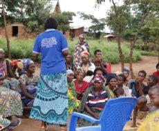 Sensibilisation des femmes réfugiées burundaises et déplacées internes sur l'hygiène et assainissement