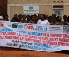 Lancement officiel du projet prévention et lutte contre les violences sexuelles et basées sur le genre dans les territoires de Walungu, Fizi et Uvira.