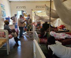 Visite de la coordinatrice de l'AFPDE aux malades sinistrés de NYIRAGONGO à MINOVA